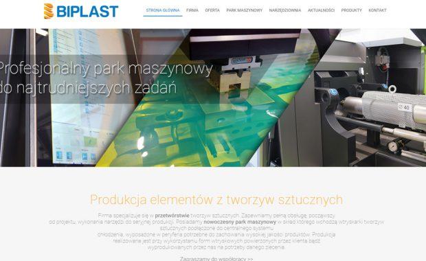 Responsywna strona firmowa Biplast.pl – CMS WordPress RWD