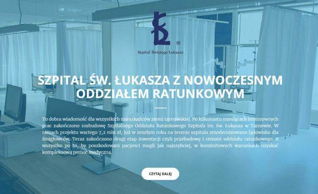 Nowoczesna strona internetowa szpitala – SOR w Tarnowie